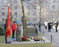 People showing respect to the murdered prime minister Olof Palme Royalty Free Stock Photo