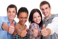 People showing thumbs up Royalty Free Stock Photos