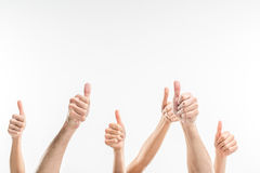 People showing thumbs up Stock Images