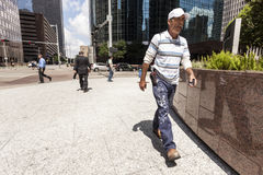People on the sidewalk in the city Stock Photography