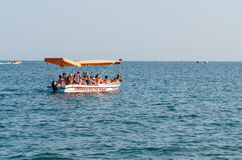 People Sightseeing the Black Sea stock images