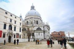 People sightseeing Santa Maria della Salute Royalty Free Stock Images