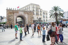 People sightseeing in Tunis Royalty Free Stock Photo