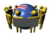 People with sign and Australia flag sphere Stock Photos