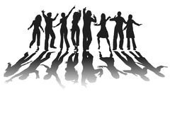 People silhouette Royalty Free Stock Image
