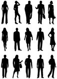 People silhouette Stock Image