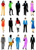 People silhouette Stock Photos