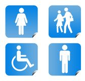 People silhouette buttons Royalty Free Stock Photos