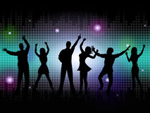 People Silhouette Means Disco Music And Dance Royalty Free Stock Image