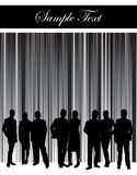 People silhouette with stripe background Royalty Free Stock Image