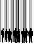People silhouette with stripe background Royalty Free Stock Photo