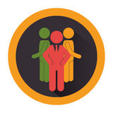 People silhouette teamwork icon Royalty Free Stock Photography