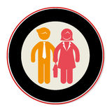 People silhouette teamwork icon Royalty Free Stock Images