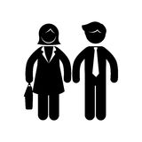 People silhouette teamwork icon Stock Photography
