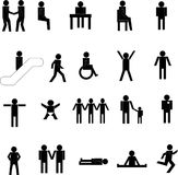 People silhouettes Royalty Free Stock Photo