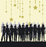People silhouettes. Silhouettes of people - additional ai and eps format available on request Royalty Free Stock Photo