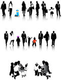 People silhouettes. Illustration of people silhouettes and shadow Stock Images
