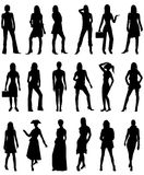 People Silhouettes 2. Vector Illustration of People Silhouettes 2. Business, Casual and Formal stock illustration