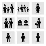 People silhouettes Stock Photography