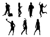 People silhouettes Stock Image