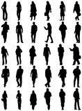People silhouettes. Illustration of people silhouettes, black Stock Image