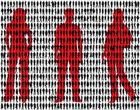 People silhouettes Stock Images