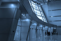 People silhouettes at airport Royalty Free Stock Images