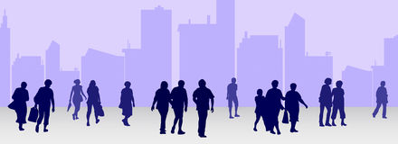 People silhouettes collection Royalty Free Stock Images