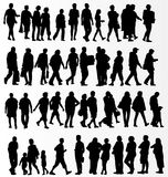 People silhouettes collection Stock Photography