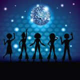 People dancing in disco. People silhouettes dancing in disco vector illustration graphic design vector illustration graphic design vector illustration