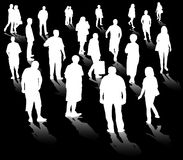 People silhouettes Royalty Free Stock Photos