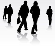 People silhouettes Royalty Free Stock Photography