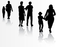 People silhouettes Stock Photos