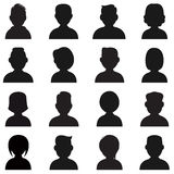People Silhouettes Icon. Stock Photography