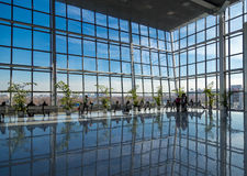 People silhouettes at office building Royalty Free Stock Photography