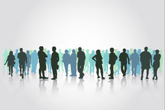 People silhouettes outdoors Royalty Free Stock Photo