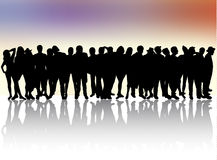 People silhouettes Royalty Free Stock Image