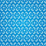People Silhouettes Stars Seamless Pattern - Blue and White Colors Royalty Free Stock Image