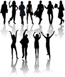 People silhouettes vector Stock Photography