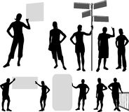 People silhouettes - vector Stock Image