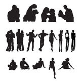 People silhouettes Royalty Free Stock Images