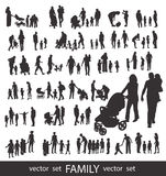 People Silhouettes  on white. Stock Images