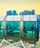 People Singapore Flyer ferries wheel stock photography