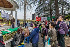 People singing revolutionary songs in fuxing park shanghai china Stock Photo