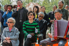 People singing revolutionary songs in fuxing park shanghai china Royalty Free Stock Photography