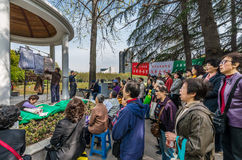People singing revolutionary songs in fuxing park shanghai china Royalty Free Stock Images