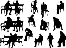 People siting Stock Image