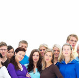 People sitting below copyspace Royalty Free Stock Photography