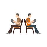 People Sitting stock illustration