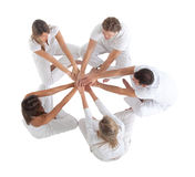 People sitting on a circle Stock Photography